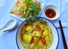 Soupe fraîche à poissons de nouille image libre de droits