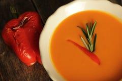 Soupe grillée à poivre Photographie stock