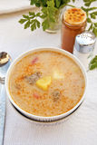 Soupe hongroise à porc Photographie stock