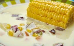 Soupe jamaïcaine à maïs Photo libre de droits