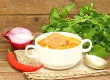 Soupe Kharcho Cuisine géorgienne Photo stock