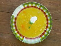 Soupe a la courge. Swiss Classic pumpkin soup - Soupe a la courge Royalty Free Stock Images
