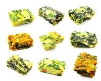 Soupe mélangée instantanée à oeufs de légumes photo stock