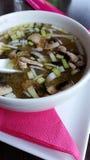 Soupe miso Soupe japonaise traditionnelle Photographie stock