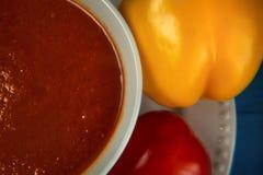 Soupe orange à forme physique Image stock