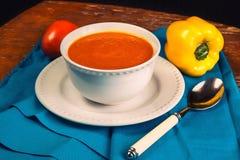 Soupe orange à forme physique Images libres de droits
