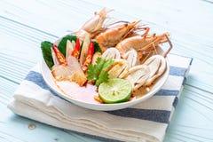soupe ?pic?e ? crevettes (Tom Yum Goong photo stock