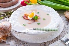 Soupe polonaise à Pâques avec l'oeuf images libres de droits
