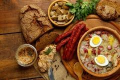 Soupe polonaise traditionnelle Zurek à Pâques Images libres de droits