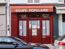 Soupe Populaire, soup kitchen in Saint Germain, paris, France Royalty Free Stock Images