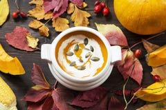 Soupe ? potiron images stock
