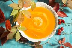 Soupe ? potiron photo stock