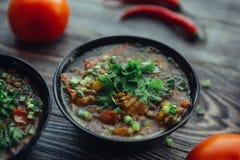 Soupe pour le dîner Photographie stock libre de droits