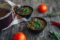 Soupe pour le dîner Photos stock