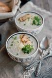 Soupe pour le dîner Photo stock