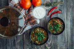 Soupe pour le dîner Photographie stock