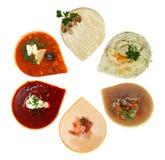 Soupe, première vue - nourriture de restaurant image libre de droits