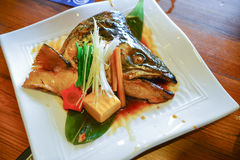 Soupe principale saumonée Image stock