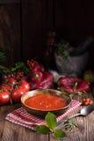 Soupe rustique à tomate Photos libres de droits