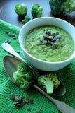 Soupe savoureuse à brocoli images libres de droits