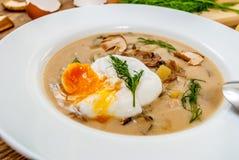 Soupe tchèque à aneth Photos libres de droits