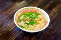 Soupe thaïlandaise à espace libre de dim sum Photos stock