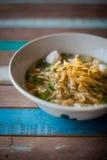 Soupe thaïlandaise à espace libre de nouille Photos stock