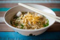 Soupe thaïlandaise à espace libre de nouille Images libres de droits