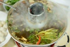 Soupe thaïlandaise à espace libre de nourriture de tradition Photos libres de droits