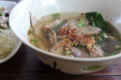 Soupe thaïlandaise à espace libre de style Photographie stock libre de droits