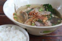 Soupe thaïlandaise à espace libre de style Photographie stock