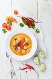 Soupe thaïlandaise épicée Tom Yam Image libre de droits