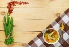 Soupe traditionnelle nationale russe à poissons photo stock