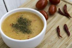 Soupe traditionnelle turque à Tarhana Photos libres de droits