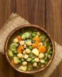 Soupe végétarienne à pois chiche photo stock