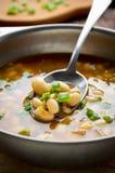 Soupe végétarienne avec des haricots et des légumes Photos stock