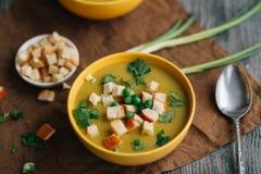 Soupe végétarienne sur la table Photographie stock