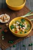 Soupe végétarienne sur la table Image libre de droits