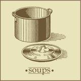 soups för sida menu2 stock illustrationer