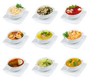 Soups isolated Royalty Free Stock Image