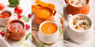 Soups puree Royalty Free Stock Photo