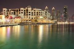 Souq Al bahar迪拜和音乐喷泉 库存照片
