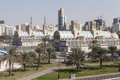 Souq bleu - (trains) Le Charjah Les Emirats Arabes Unis Image stock