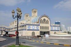 Souq central en la ciudad de Sharja fotografía de archivo
