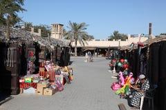 Souq dans le village d'héritage de Dubaï photos stock