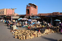 Souq em C4marraquexe, Marrocos Foto de Stock Royalty Free