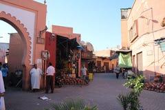 Souq em C4marraquexe, Marrocos Imagem de Stock