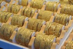souq för dubai guldsmycken Fotografering för Bildbyråer