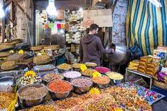 Souq Market in Amman downtown, Jordan. Amman, Jordan - April 02, 2015: View of Souq Market in Amman downtown. A souq is an open-air marketplace or commercial Royalty Free Stock Photos