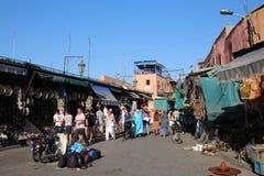 Souq in Marrakech, Marokko Royalty-vrije Stock Foto